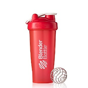 BlenderBottle Classic Loop Top Shaker Bottle, Red, 28 Ounce by Blender Bottle