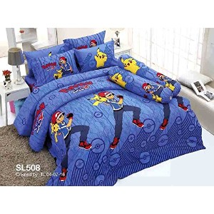 Pokemon Official Licensed Bed Sheet Set - Fitted Sheet, Pillow Case, Bolster Case (Not Included...