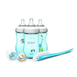 Philips Avent Natural 9 Ounce Baby Bottle Feeding Gift Set - Blue Monkeys by Philips AVENT