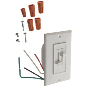 Morris Products 82661 Slide Fan and Light Speed Controls, White by Morris Products