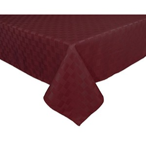 Reflections 60 by 84-Inch Oblong / Rectangle Tablecloth, Merlot by Bardwil
