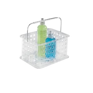 InterDesign Zia Small Tote Basket with Handle - Clear by InterDesign