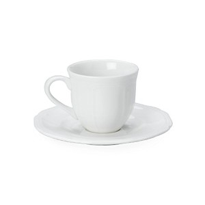 Mikasa Antique White Espresso Cup and Saucer Set by Mikasa