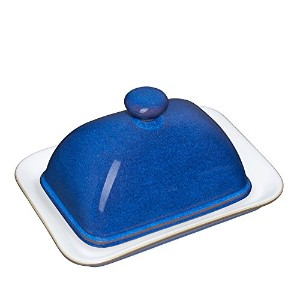Denby Imperial Blue Covered Butter Dish by Denby