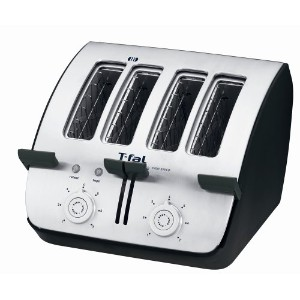 T-fal TT7461 Avante Deluxe 4-Slice Toaster with Bagel Function, Black by T-fal