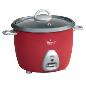 Rival RC61 3-Cup uncooked resulting in 6-Cup cooked Rice Cooker, Red by Rival