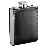 Visol Wallet Stainless Steel Leatherette Liquor Flask, 6-Ounce, Black by Visol