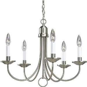 Progress Lighting P4008-09 5-Light Chandelier, Brushed Nickel by Progress Lighting