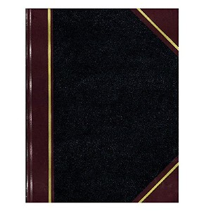 Texhide Accounting Book, Black/Burgundy, 150 Green Pages, 10 3/8 x 8 3/8 (並行輸入品)