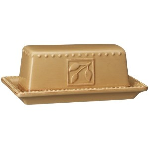 Signature Housewares Sorrento Collection Butter Dish, Gold Antiqued Finish by Signature Housewares