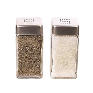 Grant Howard Square Salt and Pepper Shaker Set、クリア
