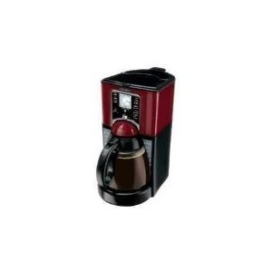 Mr. Coffee FTX49 12-Cup Programmable Coffeemaker, Black/Red by Mr. Coffee
