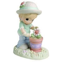 Precious Moments 630006 'A Tender Touch Helps Love Bloom' Figurine by Precious Moments [並行輸入品]