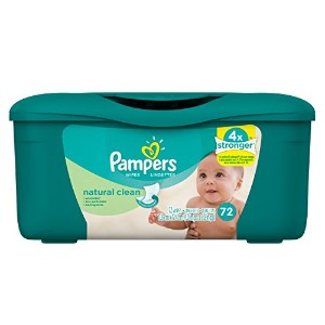 Pampers Baby Wipes Natural Clean Tub 72 count by Pampers