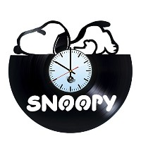 スヌーピー ビニールレコード 壁時計 Snoopy lazy Vinyl Record Wall Clock -Get unique kids room wall decor - Gift...