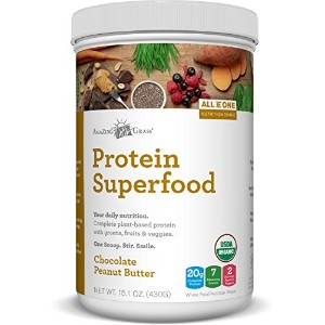 Amazing Grass Protein Superfood Chocolate Peanut Butter, 10 Servings, 15.1 ounces by Amazing Grass