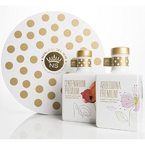 """Gift Box - Spanish Extra virgin olive oil """"Nobleza del Sur"""" limited edition first day of harvest -..."""