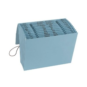 100% Recycled Color Expanding Files, 12 Pockets, Letter, Blue Moon (並行輸入品)
