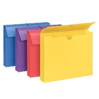 Two Inch Expansion Antimicrobial File Wallet, Letter, Four Colors, 4/Pack (並行輸入品)
