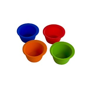Curious Chef 4-Piece Silicone Pinch Bowl Set by Curious Chef