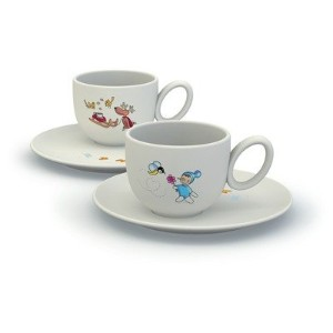 Alessi Niki E Gli Amici Cups with Saucers (Set of 2) [Set of 2]Amici