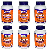 海外直送品Now Foods L-Lysine, 100 Tabs 1000 mg(Pack of 6)