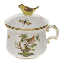 Herend China Rothschild Bird Pot De Creme by Herend