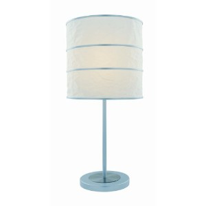 Lite Source LS-21430 Sedlar Table Lamp, Polished Steel And Silver with White Paper Shade by Lite...