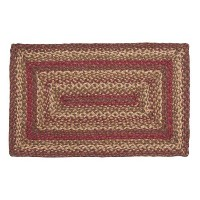 IHF HOME DECOR Rectangle Area Floor Carpet Braided Rug 22 X 72 New CINNAMON DESIGN Jute Fabric by...