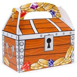Fun Express Treasure Chest Treat Boxes、バルク( 1パックof 12 ) 1-Pack of 12 31512