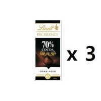 リンツ(Lindt) Chocolate Block Excellence 70% Dark 100g 3EA [海外直送] [並行輸入品]