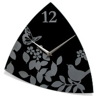 """Infinity Instruments Age of Aviary-15"""" Glass Wall Clock by Infinity Instruments [並行輸入品]"""