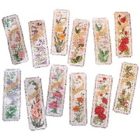 "Flowers Of The Month Bookmarks Counted Cross Stitch Kit-2-1/4""X7-3/4"" 14 Count Set Of 12 (並行輸入品)"