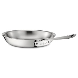 All-Clad 4108 Stainless Steel Tri-Ply Bonded Dishwasher Safe Fry Pan / Cookware, 8-Inch, Silver by...