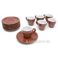 Italian Cafe Style Milano Espresso Cups - Set of 6 by nuova point NP