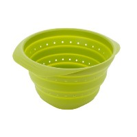 MIU France 11-Inch Collapsible Silicone Colander, Green by MIU France