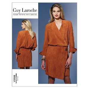 【vogue patterns】Guy Laroche ワンピース型紙 サイズ:US6-8-10-12