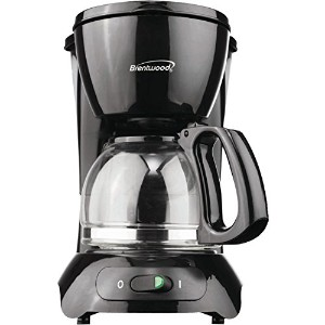 Brentwood 4-Cup Coffeemaker (Black) - TS-214