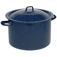 IMUSA USA C20666-10646W Enamel Stock Pot, 12-Quart, Blue by Imusa