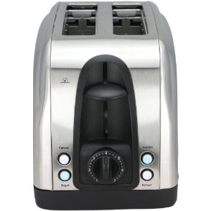 Toaster - 2 Slice Stainless Steel Toaster with Illuminated LED Buttons (RJ06) by Chefman by Chefman