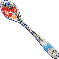 Polish Pottery Ceramika Boleslawiec, 1022/238, Spoon Medium, 1 1/4 by 6 1/8 Inches Long, Royal Blue...
