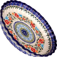 Polish Pottery Ceramika Boleslawiec, 1212/238, Pie Baker Small, 9 7/8 Inches in Diameter - 4 Cups,...
