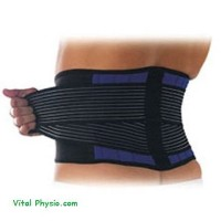 Brand New Deluxe Neoprene Double Pull Lumbar Lower Back Support Brace Exercise Belt: L (34-38''/86...
