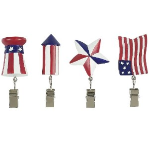 Boston Warehouse Flags Flying Patriotic Tablecloth Weight Set by Boston Warehouse