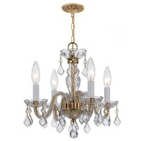 Crystorama 1064-PB-CL Traditional Crystal Chandelier by Crystorama
