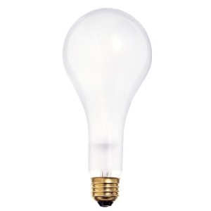 Satco S1826 120-Volt 100/200/300 PS25 3 Contact Mogul Base Light Bulb, Frosted by Satco
