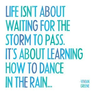 Quotable Magnet- Life Isn't About Waiting for the Storm to Pass... Vivian Greene by Quotable