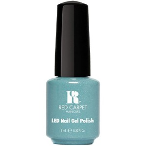 Red Carpet Manicure - LED Nail Gel Polish - Power of the Gemstones - Aquamarine - 0.3oz / 9ml