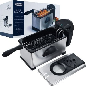 Chef Buddy Stainless Steel Electric Deep Fryer, 3.20 Quart by Chef Buddy