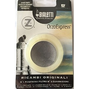 Bialetti: Replacement for Orzo Express 4-Cup (1 Filter Plate + 2 Rubber Seals)